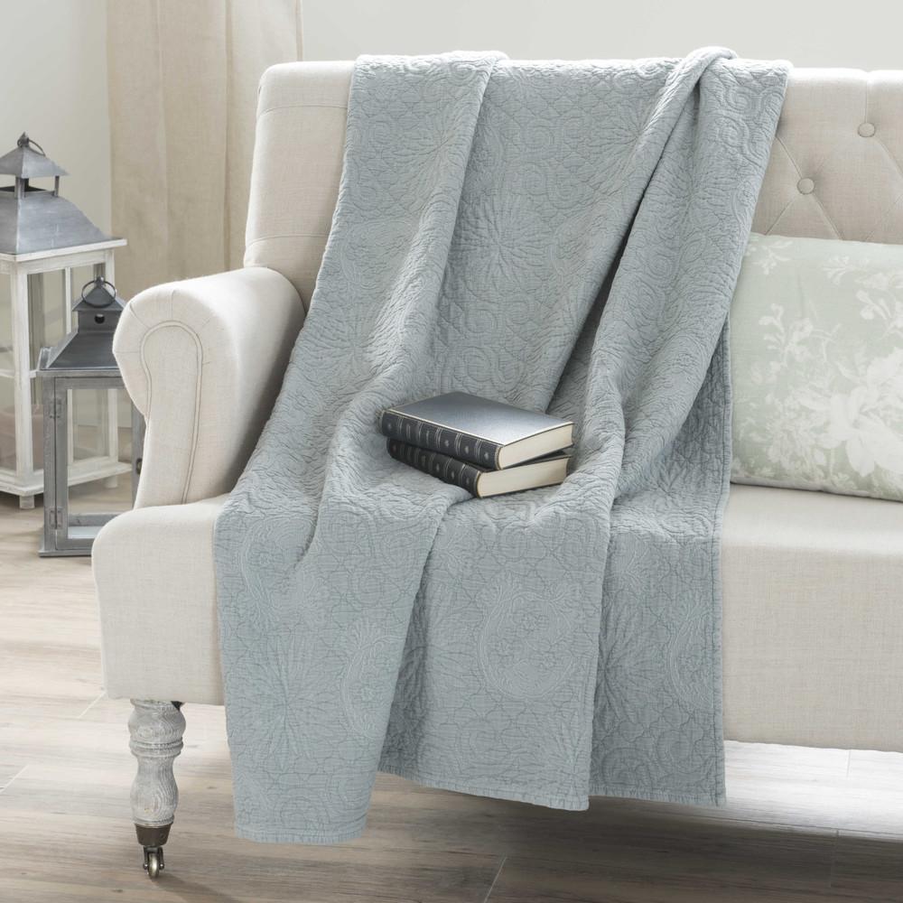 boutis en coton bleu 180 x 240 cm blasi maisons du monde. Black Bedroom Furniture Sets. Home Design Ideas