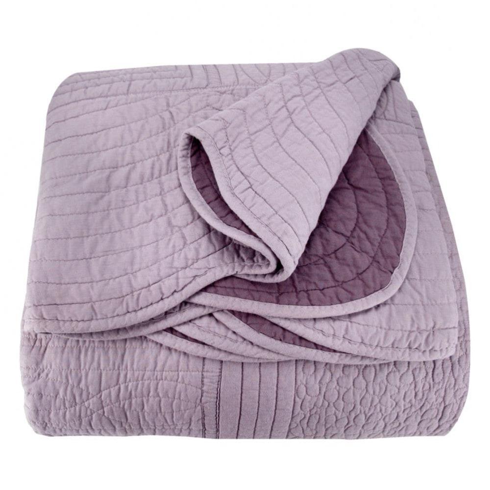 boutis r versible en coton myrtille 240 x 260 cm maisons du monde. Black Bedroom Furniture Sets. Home Design Ideas