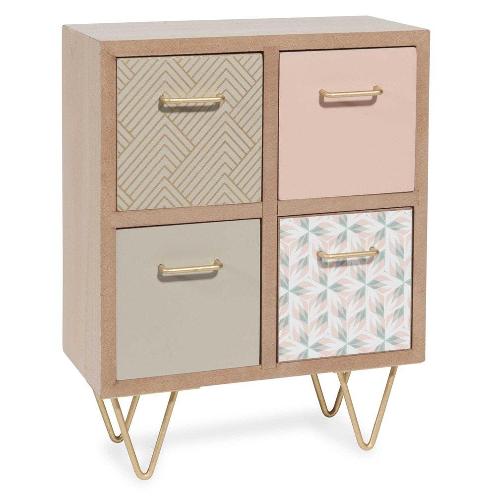 box zum aufstellen mit 4 schubladen holzimitation betty. Black Bedroom Furniture Sets. Home Design Ideas