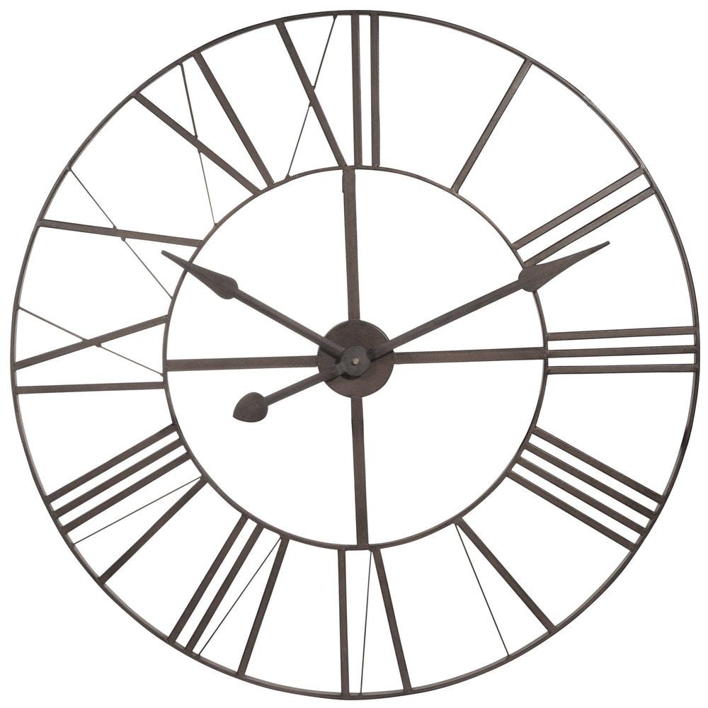 brady metal clock d 80 cm horloge maisons du monde. Black Bedroom Furniture Sets. Home Design Ideas