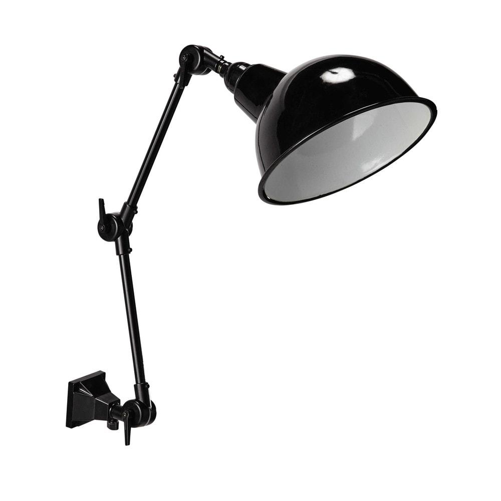 BROOKLYN metal wall light in black H 47cm Maisons du Monde