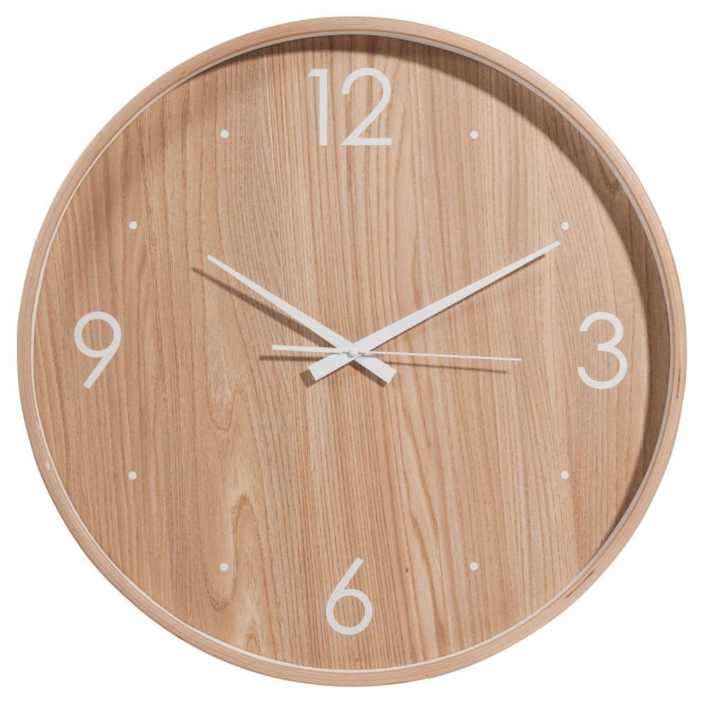 Brovick wooden clock d 53 cm maisons du monde - Horloge murale 60 cm ...