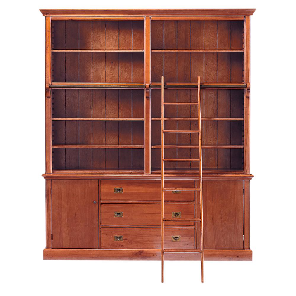 b cherregal aus massivholz mit leiter b 193 cm voyage. Black Bedroom Furniture Sets. Home Design Ideas