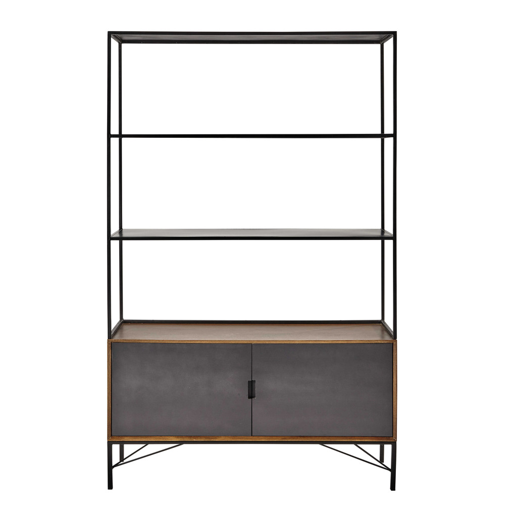 b cherregal aus metall b 120 cm schwarz arty maisons du monde. Black Bedroom Furniture Sets. Home Design Ideas
