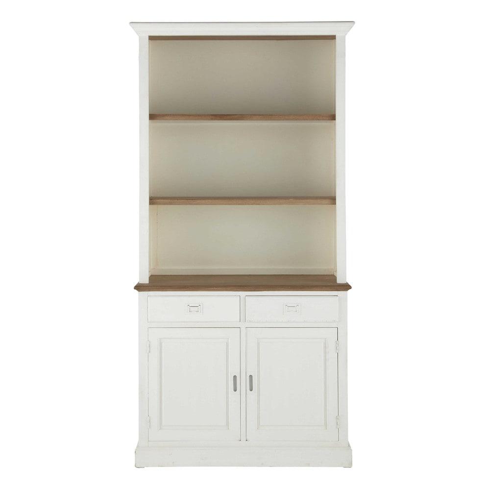 b cherregal aus paulownienholz b 110 cm wei leandre. Black Bedroom Furniture Sets. Home Design Ideas