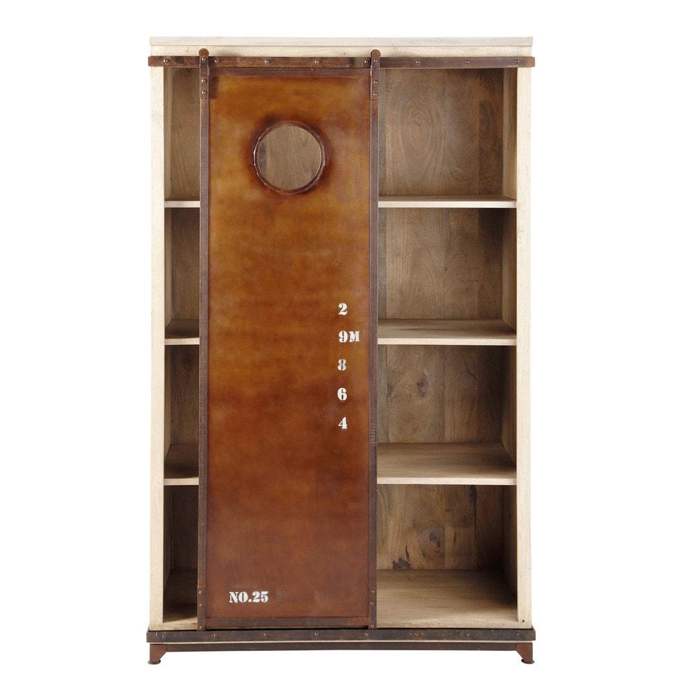 b cherregal im industrial stil aus mangoholz b 120 cm. Black Bedroom Furniture Sets. Home Design Ideas