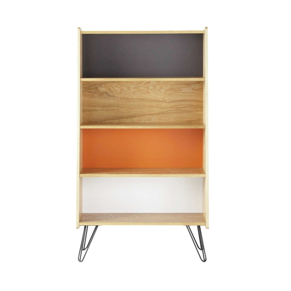 b cherregal im vintage stil aus holz b 72 cm bunt twist. Black Bedroom Furniture Sets. Home Design Ideas