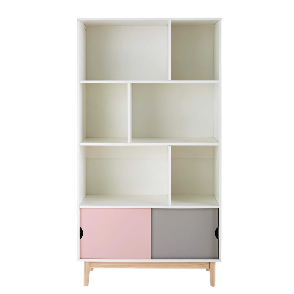 b cherschrank mit 2 t ren dreifarbig blush maisons du monde. Black Bedroom Furniture Sets. Home Design Ideas