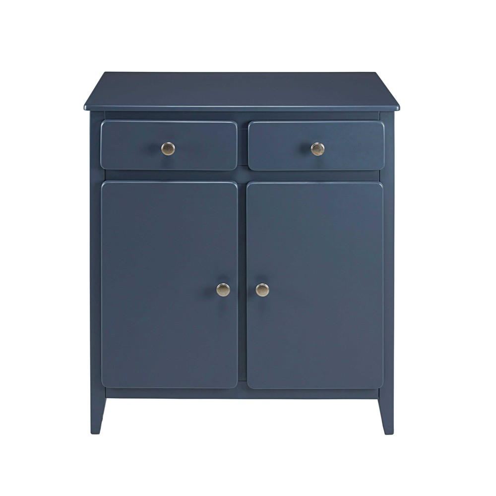 buffet 2 portes 2 tiroirs bleu gris thelma maisons du monde. Black Bedroom Furniture Sets. Home Design Ideas