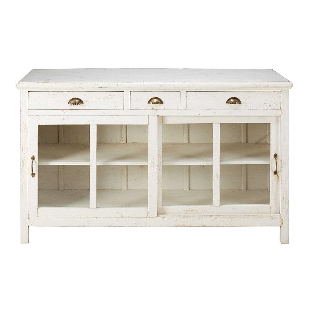 buffet 2 portes 3 tiroirs en manguier massif lizon maisons du monde. Black Bedroom Furniture Sets. Home Design Ideas