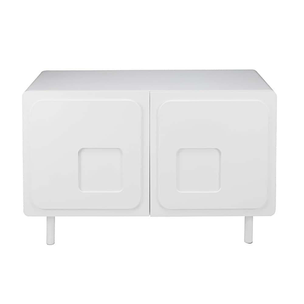 buffet 2 portes blanc twiggy maisons du monde. Black Bedroom Furniture Sets. Home Design Ideas