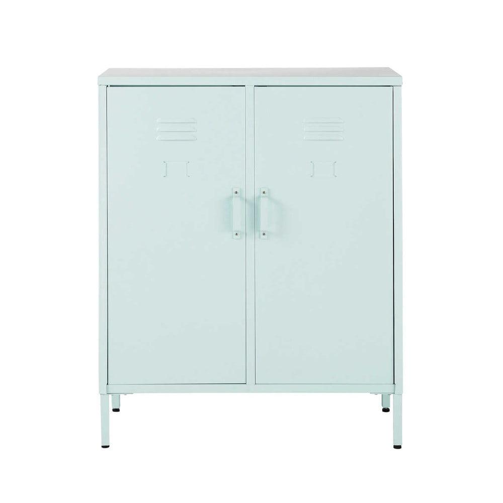 buffet 2 portes m tal bleu cirrus maisons du monde. Black Bedroom Furniture Sets. Home Design Ideas