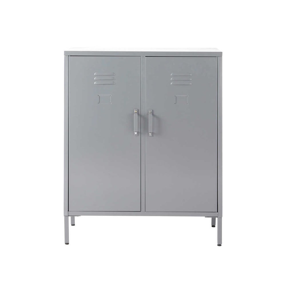 buffet 2 portes m tal gris cirrus maisons du monde. Black Bedroom Furniture Sets. Home Design Ideas
