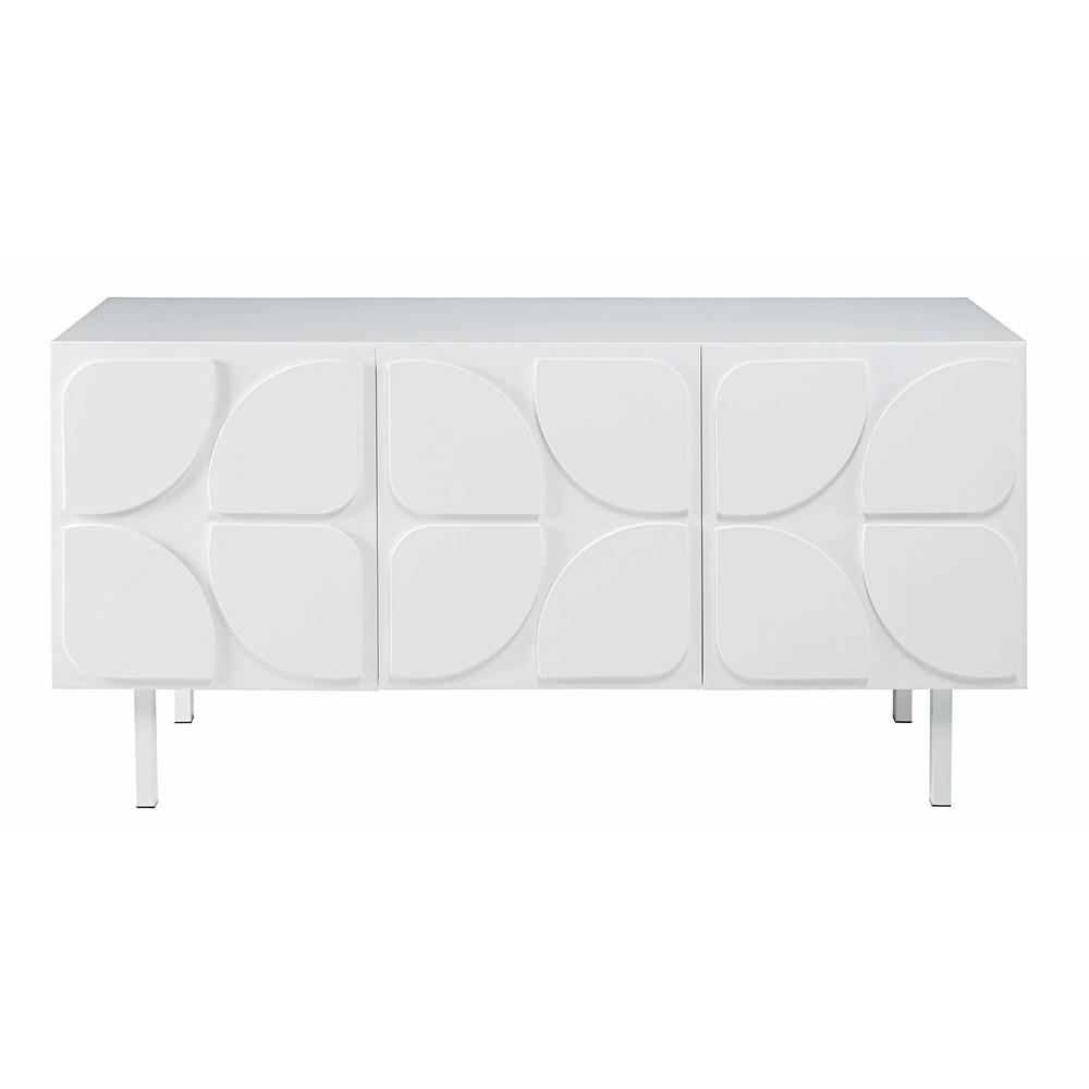 buffet 3 portes blanc twiggy maisons du monde. Black Bedroom Furniture Sets. Home Design Ideas