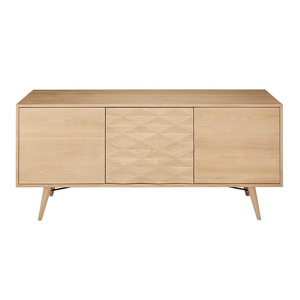buffet 3 portes en ch ne massif fran ais keops maisons. Black Bedroom Furniture Sets. Home Design Ideas