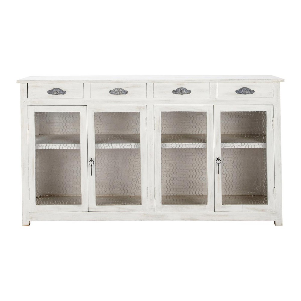 buffet de cuisine blanc bocage maisons du monde. Black Bedroom Furniture Sets. Home Design Ideas