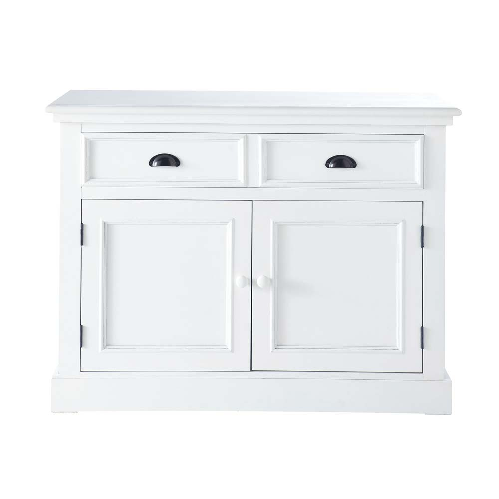 buffet en bois blanc l 106 cm newport maisons du monde. Black Bedroom Furniture Sets. Home Design Ideas