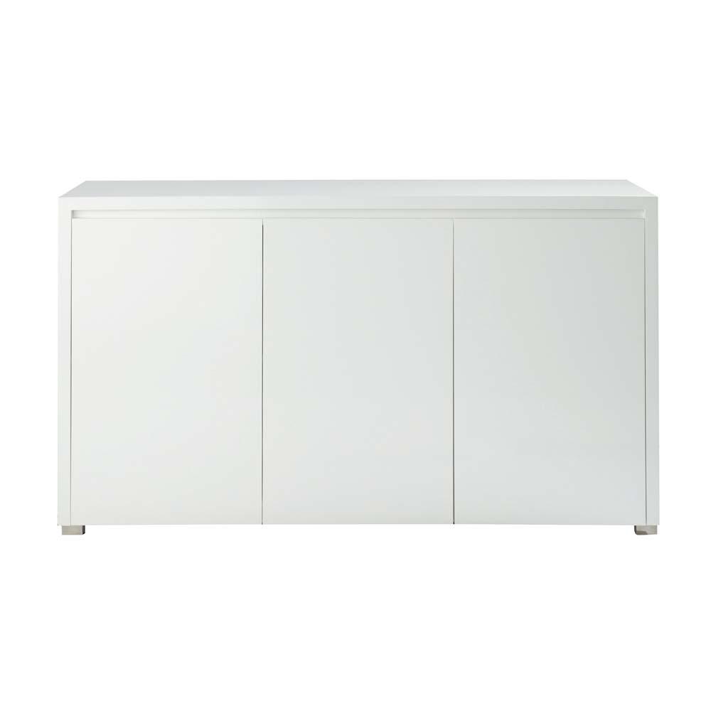 buffet en bois blanc l 141 cm pure maisons du monde. Black Bedroom Furniture Sets. Home Design Ideas