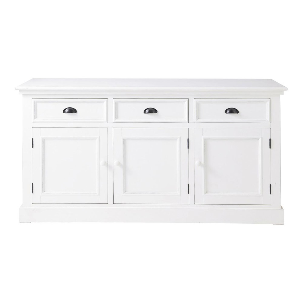 buffet en bois blanc l 156 cm newport maisons du monde. Black Bedroom Furniture Sets. Home Design Ideas