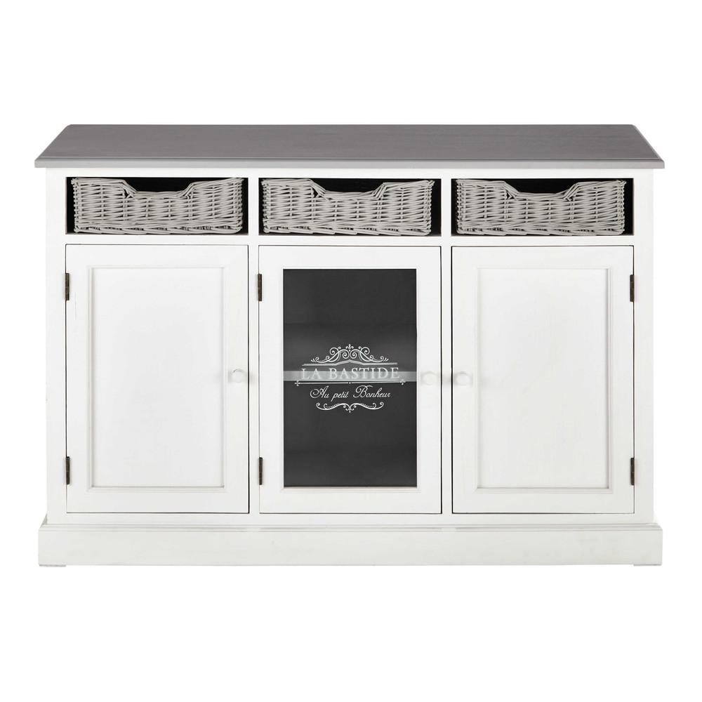 buffet en bois de paulownia l 130 cm garrigue maisons du monde. Black Bedroom Furniture Sets. Home Design Ideas