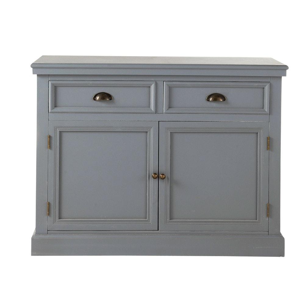buffet en bois gris l 106 cm newport maisons du monde. Black Bedroom Furniture Sets. Home Design Ideas