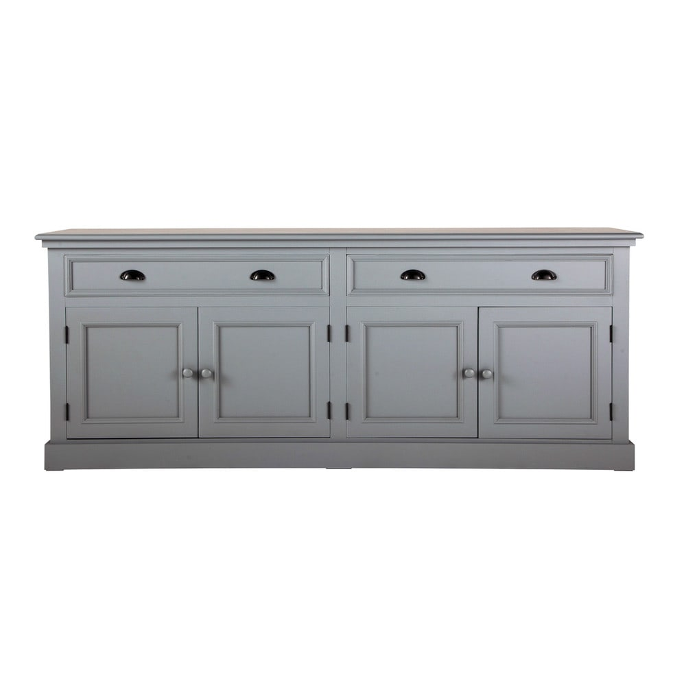 buffet en bois gris l 200 cm newport maisons du monde. Black Bedroom Furniture Sets. Home Design Ideas