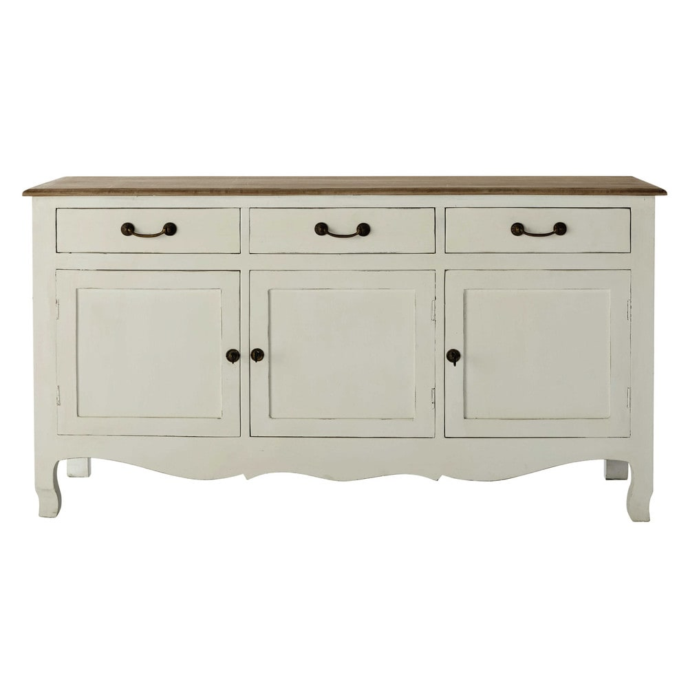 buffet en manguier blanc l 160 cm versailles maisons du monde. Black Bedroom Furniture Sets. Home Design Ideas