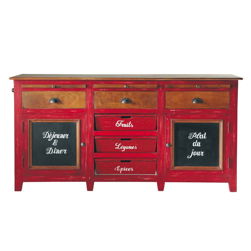 buffet en manguier rouge l 175 cm bistrot maisons du monde. Black Bedroom Furniture Sets. Home Design Ideas