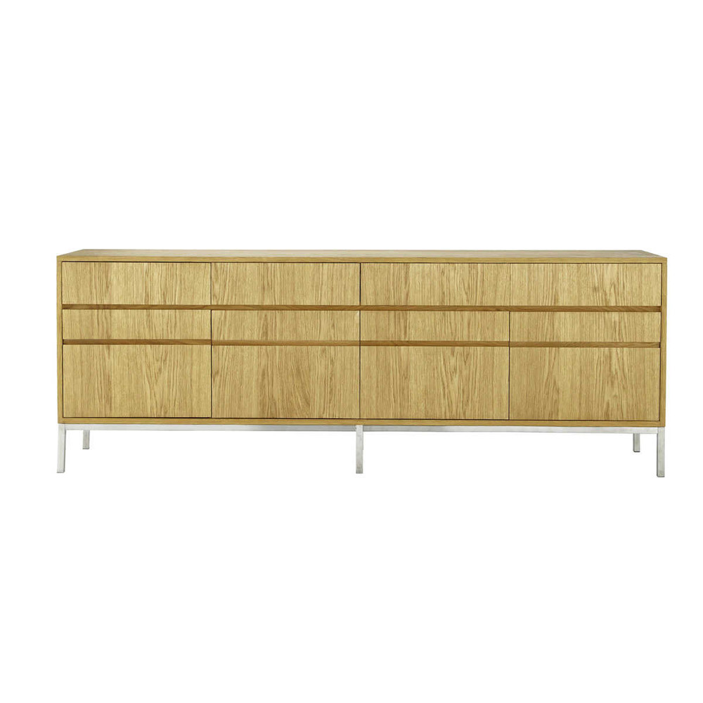 buffet enfilade en bois l 220 cm vancouver maisons du monde. Black Bedroom Furniture Sets. Home Design Ideas