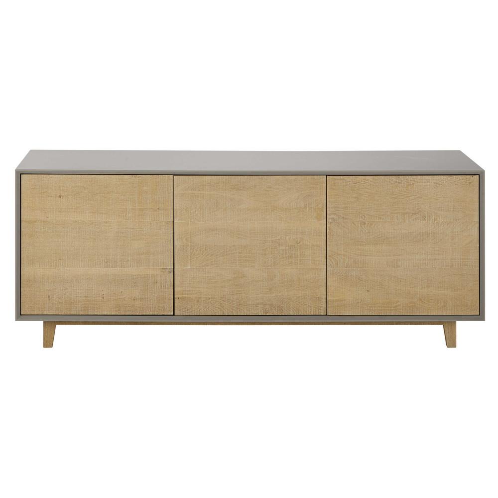 buffet gris l 165 cm vermont maisons du monde. Black Bedroom Furniture Sets. Home Design Ideas