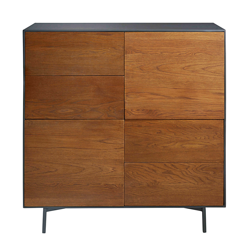 buffet haut 4 portes en ch ne massif camden maisons du monde. Black Bedroom Furniture Sets. Home Design Ideas