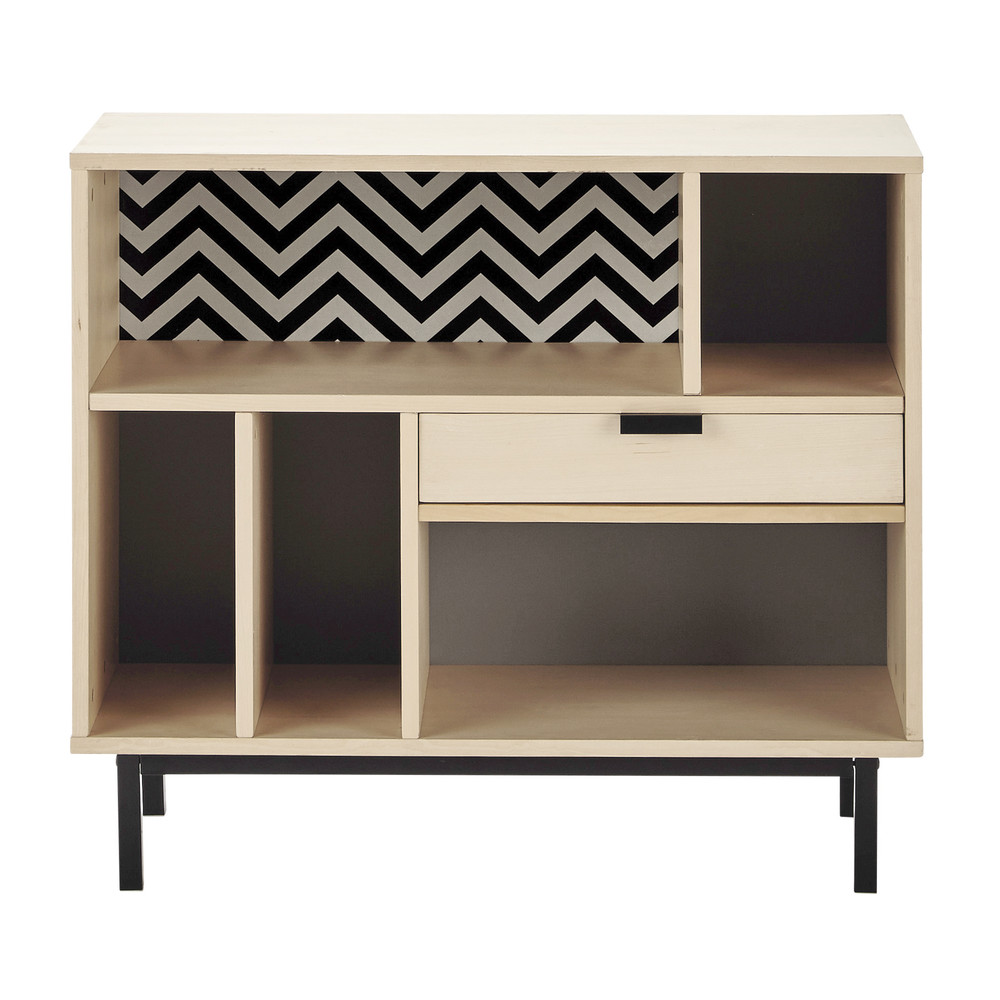 buffet haut l 92 cm graphik maisons du monde. Black Bedroom Furniture Sets. Home Design Ideas