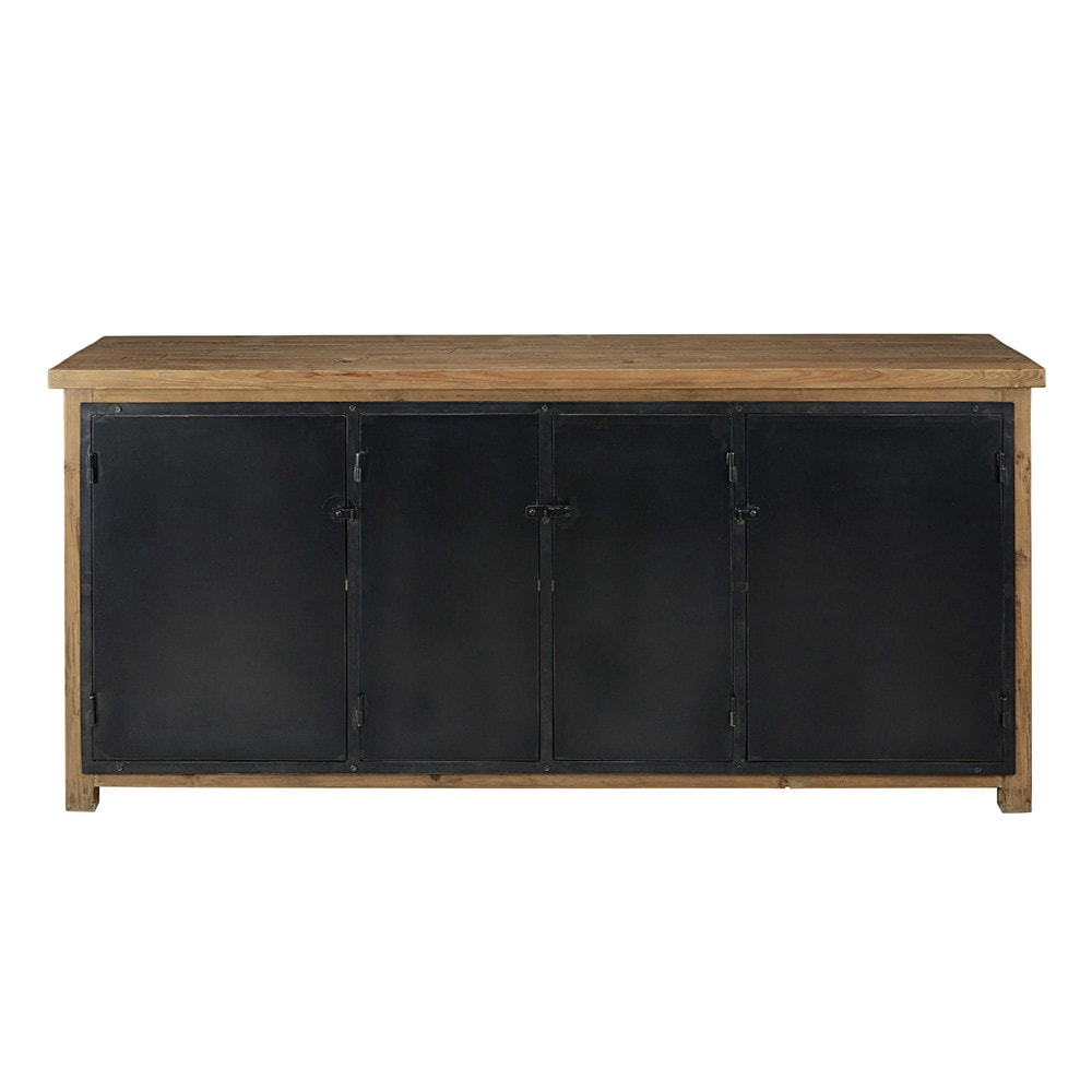 buffet im industrial stil mit 4 t ren aus recyceltem. Black Bedroom Furniture Sets. Home Design Ideas