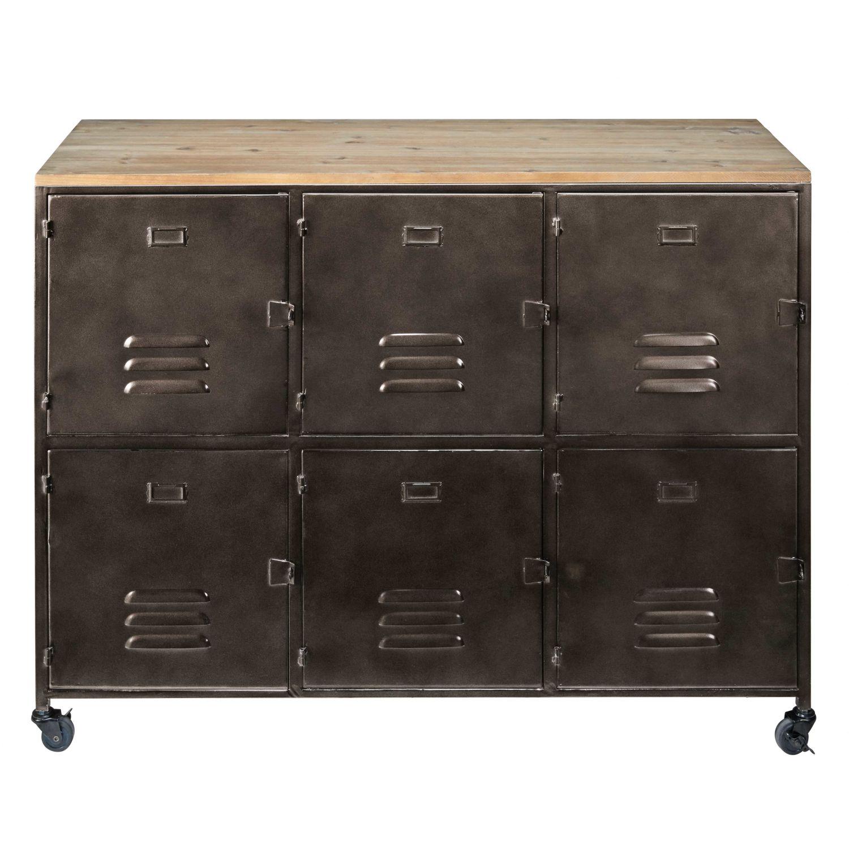 commode style industriel maison du monde. Black Bedroom Furniture Sets. Home Design Ideas