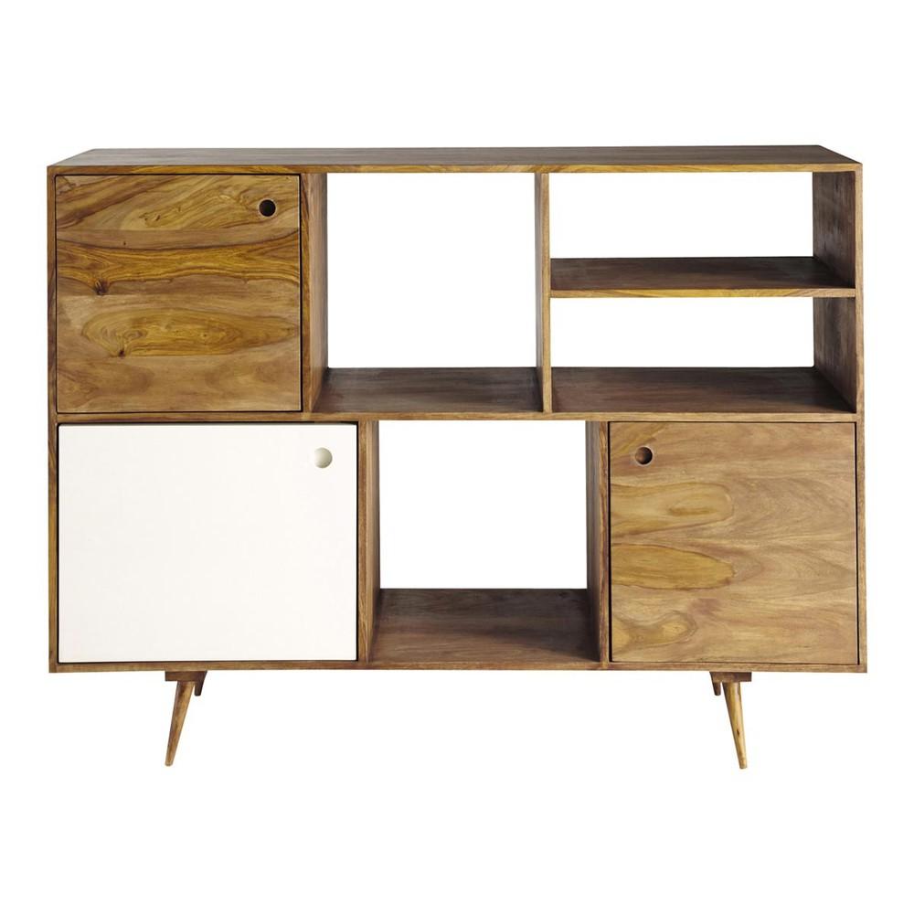 buffet vintage en bois de sheesham l 145 cm andersen. Black Bedroom Furniture Sets. Home Design Ideas
