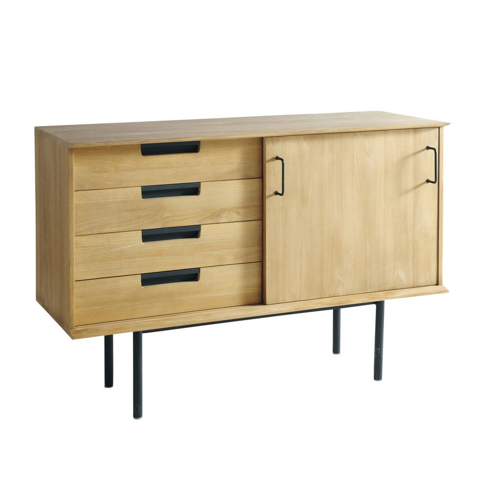 buffet vintage en teck l 135 cm guariche maisons du monde. Black Bedroom Furniture Sets. Home Design Ideas