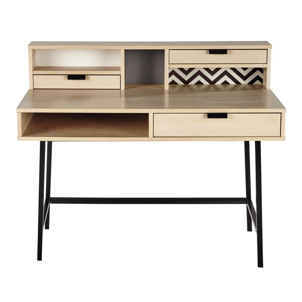 bureau breedte 120 cm graphik maisons du monde. Black Bedroom Furniture Sets. Home Design Ideas