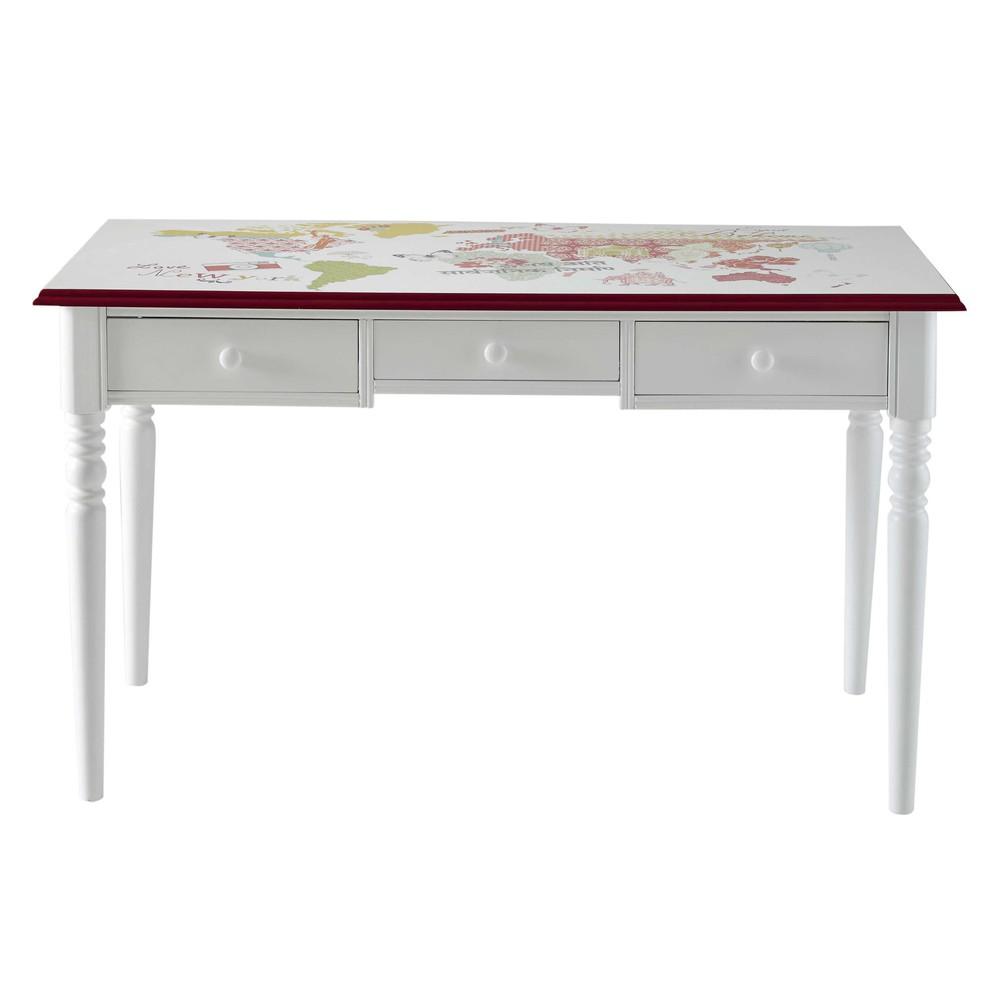 Bureau Bois Blanc Table De Bureau Lepolyglotte