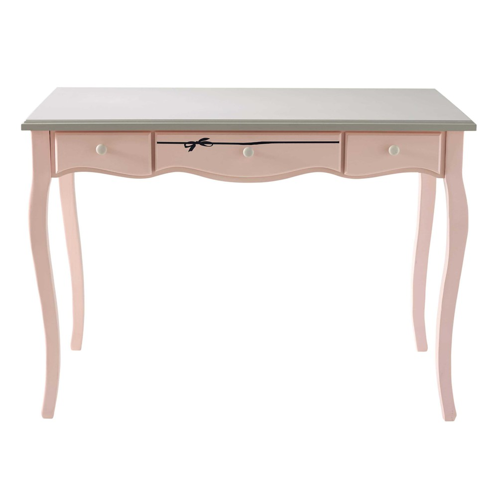 bureau en bois rose et gris l 110 cm paris mode maisons du monde. Black Bedroom Furniture Sets. Home Design Ideas