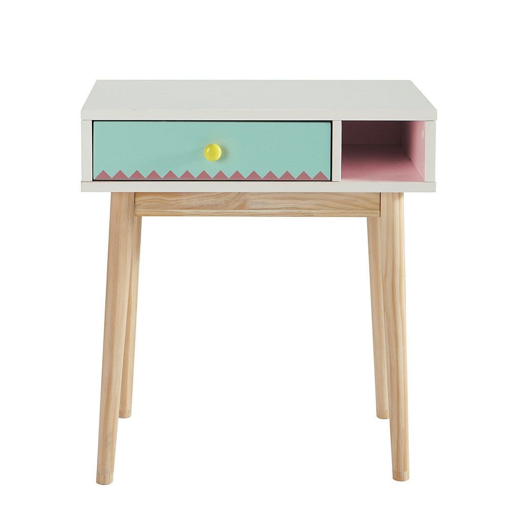 bureau enfant blanc multicolore berlingot maisons du monde. Black Bedroom Furniture Sets. Home Design Ideas