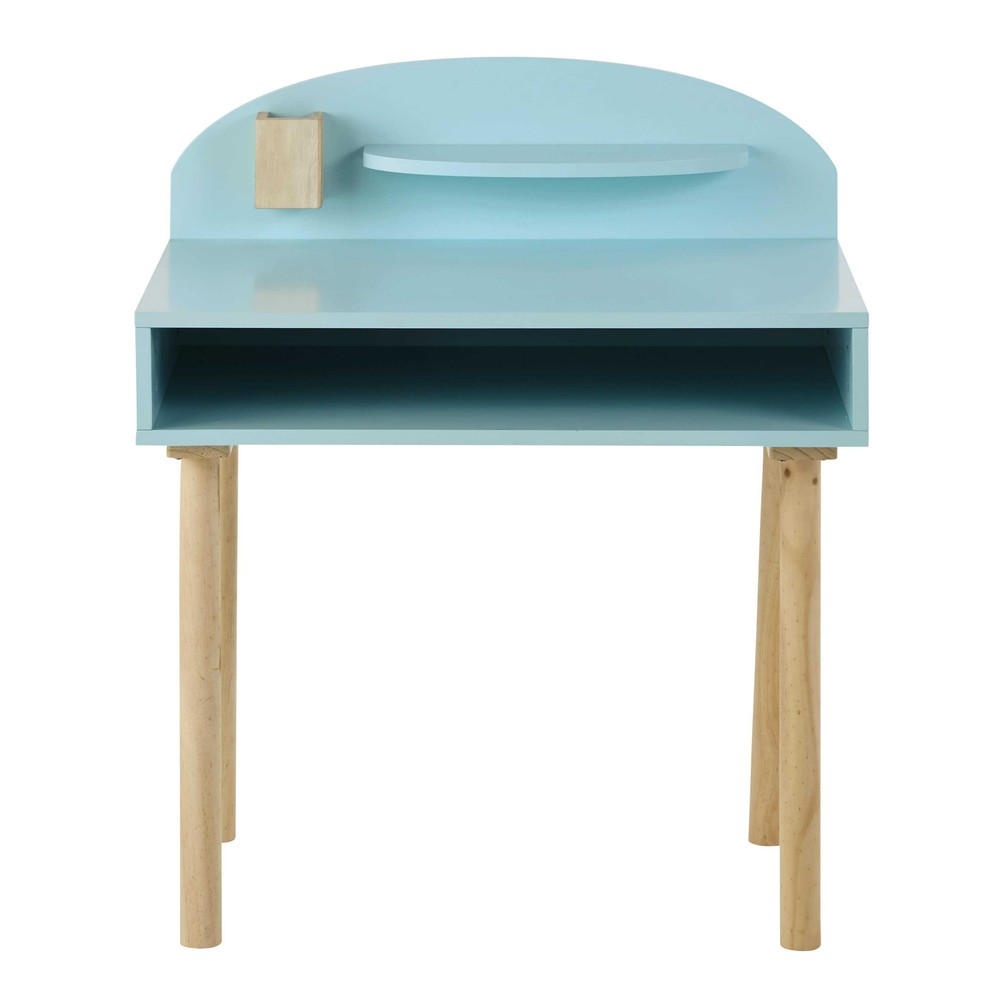 bureau enfant en bois bleu l 70 cm nuage maisons du monde. Black Bedroom Furniture Sets. Home Design Ideas