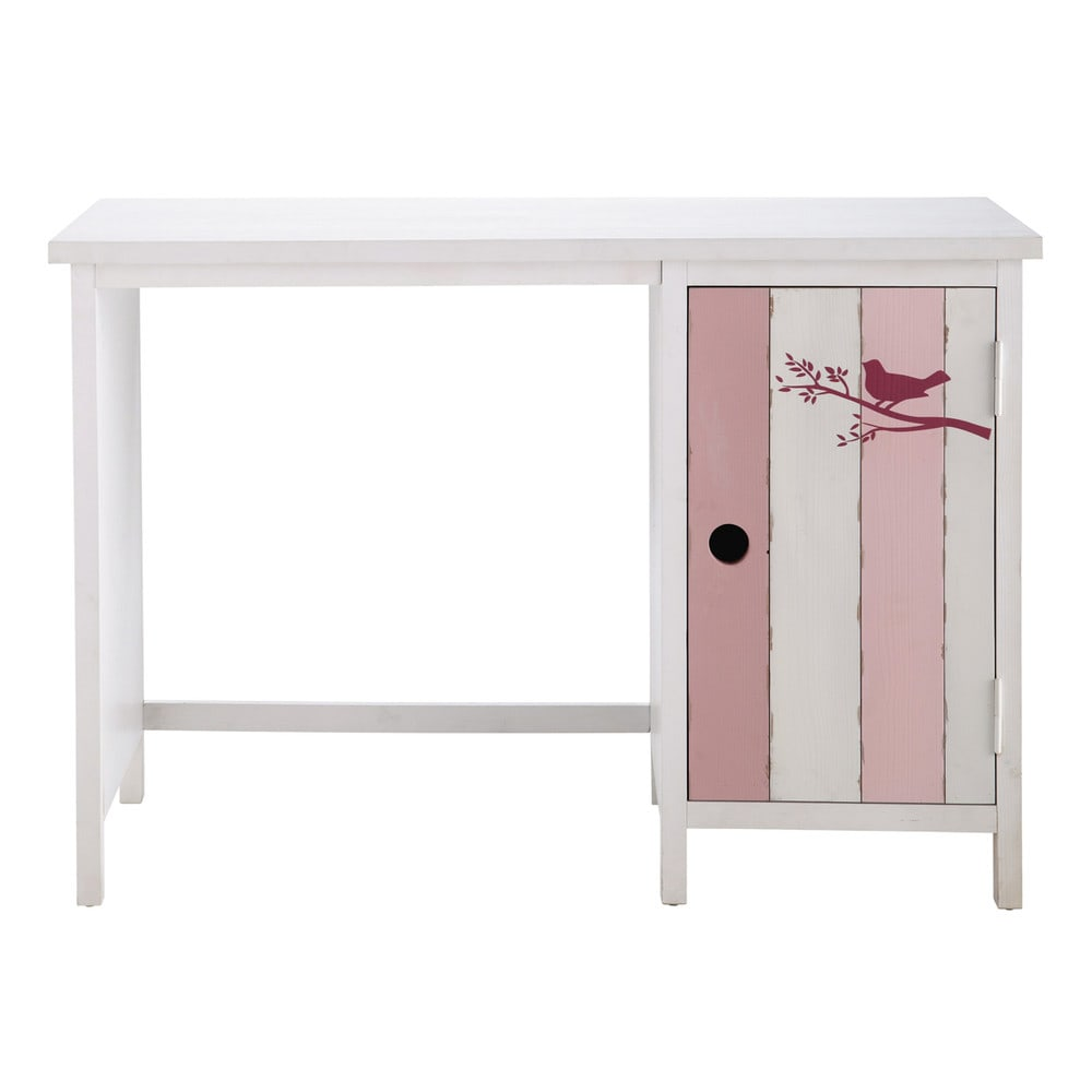 bureau enfant rose et blanc violette maisons du monde. Black Bedroom Furniture Sets. Home Design Ideas