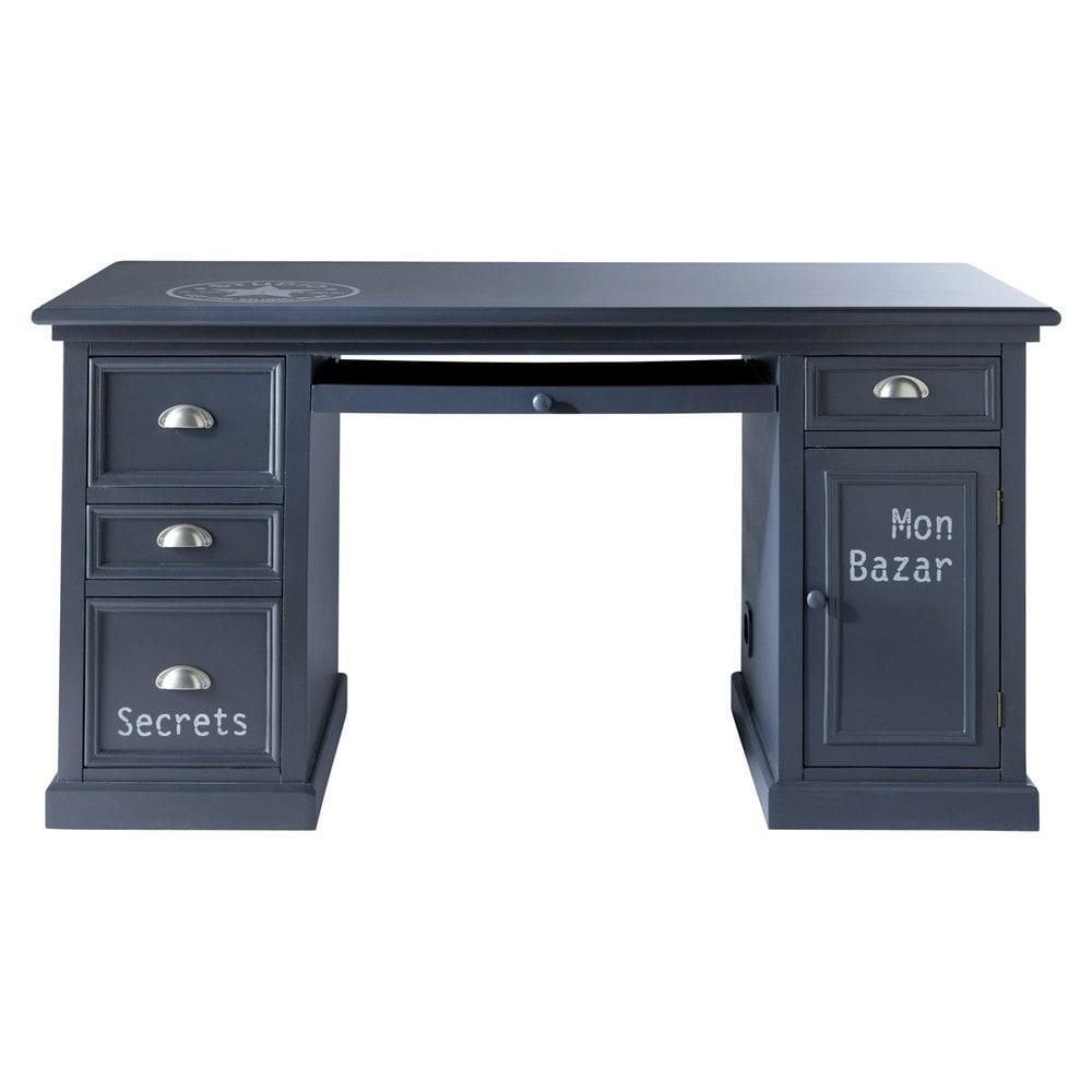 bureau gris l 150 cm newport maisons du monde. Black Bedroom Furniture Sets. Home Design Ideas