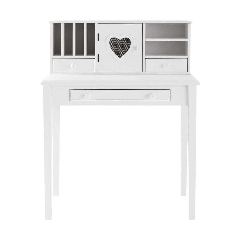 bureau secr taire blanc valentine maisons du monde. Black Bedroom Furniture Sets. Home Design Ideas