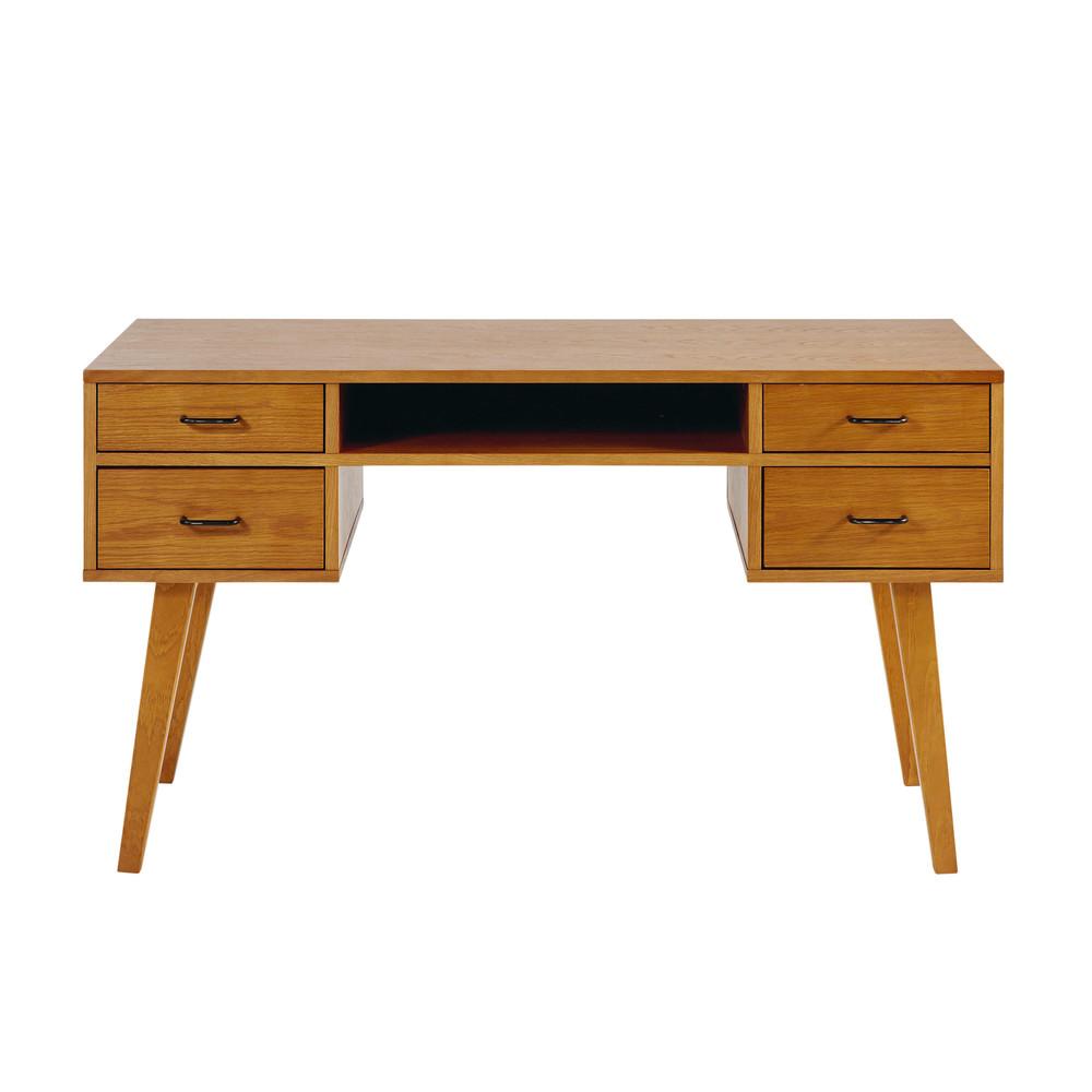 Bureau vintage 4 tiroirs dean maisons du monde for Bureau 4 tiroirs