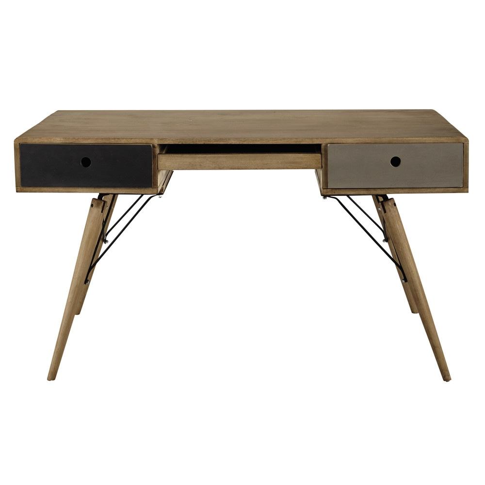 bureau vintage en manguier massif l 137 cm melting maisons du monde. Black Bedroom Furniture Sets. Home Design Ideas