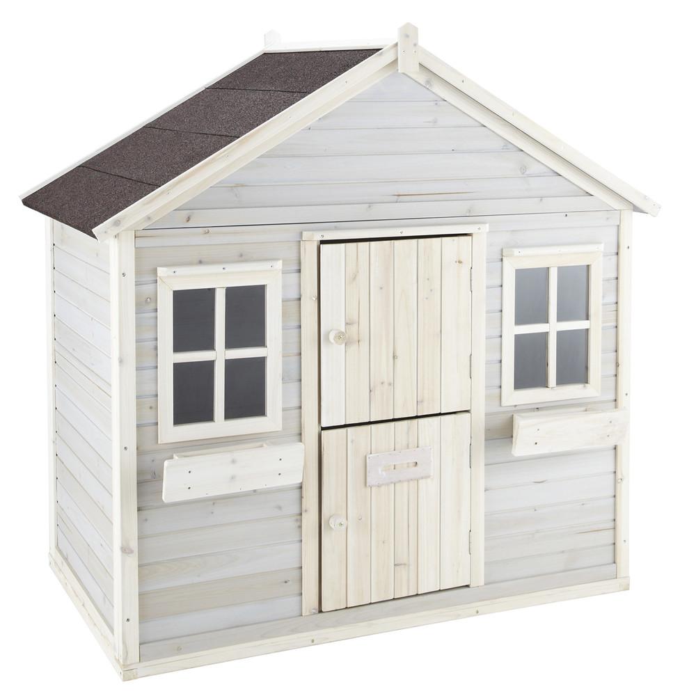 Cabane de jardin enfant grise lola maisons du monde for Achat cabane de jardin