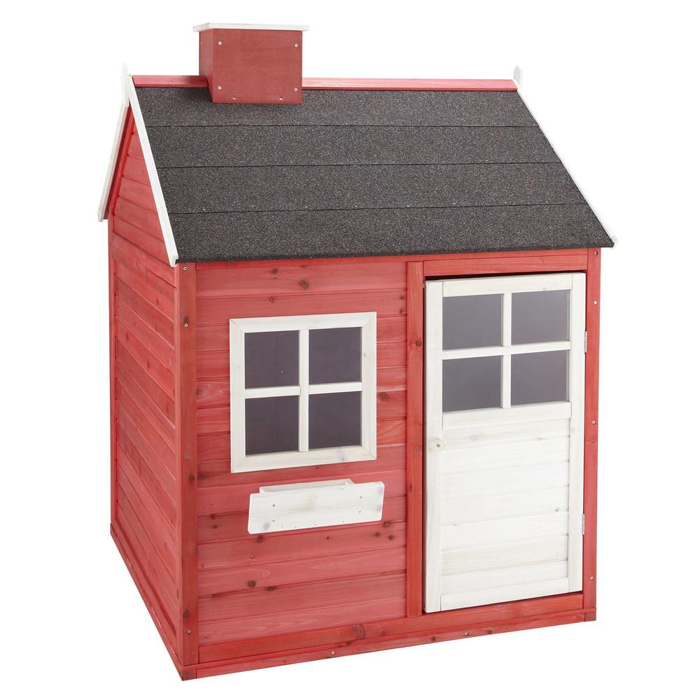Cabane de jardin enfant rouge grenadine maisons du monde for Cabane de rangement pour jardin
