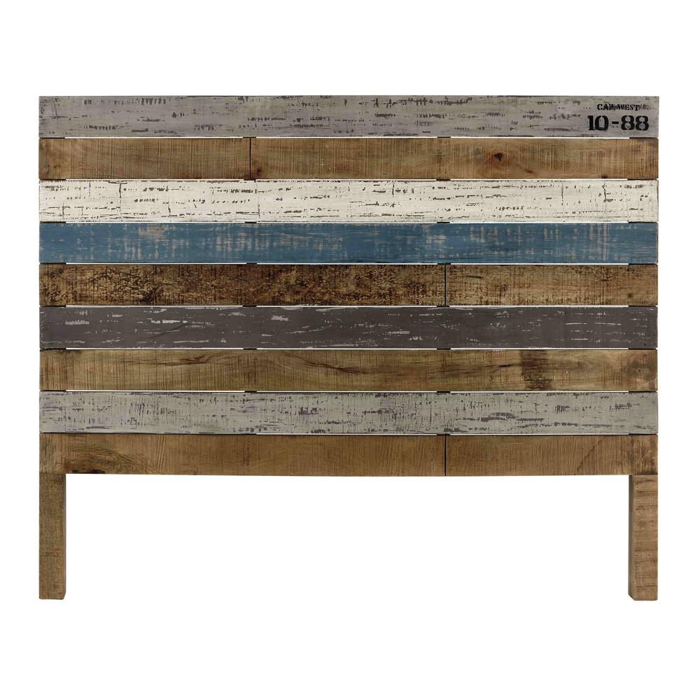 Cabecero 140 cm de listones de madera de mango sailor - Cabecero listones madera ...