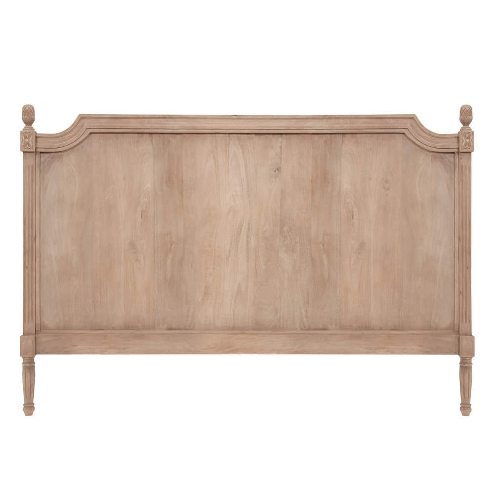 Cabecero de cama de 160 de madera gris chenonceau - Cabecero de cama de madera ...